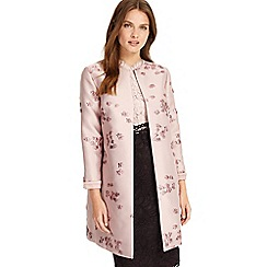 Phase Eight - Light pink liliana jacquard coat