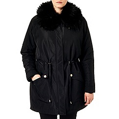 Studio 8 - Sizes 16-24 Black faith parka coat
