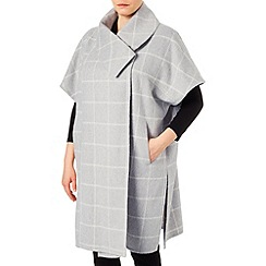 Studio 8 - Sizes 16-24 Silver lynn check cape coat