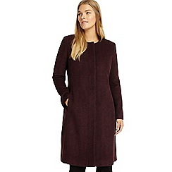 Studio 8 - Sizes 12-26 Burgundy nina swing coat