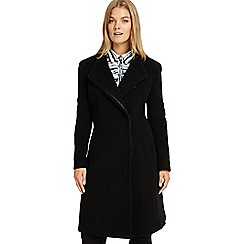 Studio 8 - Sizes 12-26 Black victoria wool coat