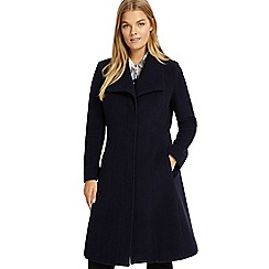 Studio 8 - Sizes 12-26 Navy hayley wool coat