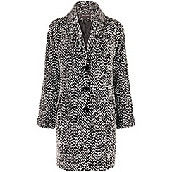 Phase Eight - Black zena zig zag coat