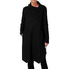 Phase Eight - Black bellona waterfall coat