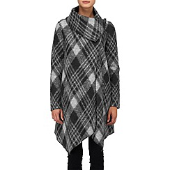 Phase Eight - Black and Silver bellona check coat