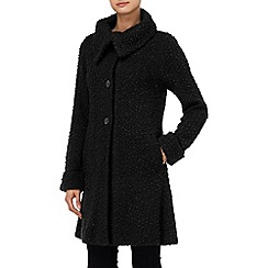 Phase Eight - Black ria raschel coat