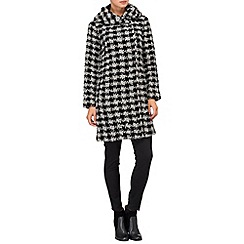 Phase Eight - Cream and Black dalia dogtooth coat
