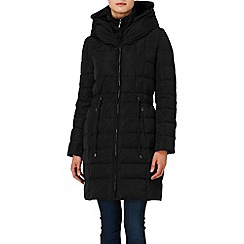 Phase Eight - Black hattie hooded puffa coat