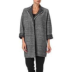 Phase Eight - Black and Ivory cecilia collarless coat