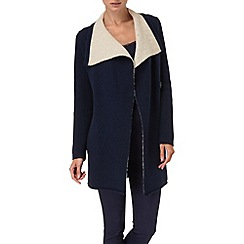 Phase Eight - Navy and stone dee double faced knit coat