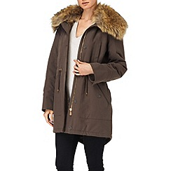 Phase Eight - Mink faye fur trim parka coat