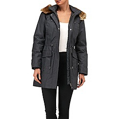 Phase Eight - Navy diana waxed parka coat