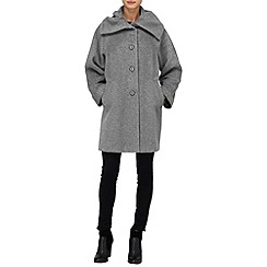 Phase Eight - Grey josie ruched collar coat