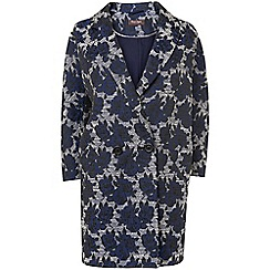 Phase Eight - Navy mia rose jacquard coat