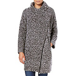 Phase Eight - Salt and Pepper elena texture knit coat