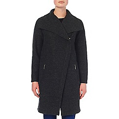 Phase Eight - Charcoal zen zip asymmetric coat