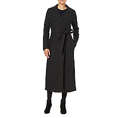 Phase Eight - Charcoal meara maxi knit coat