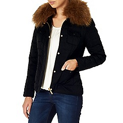 Phase Eight - Jolie fur trim puffer
