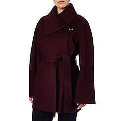 Phase Eight - Blackcurrant celeste cape coat