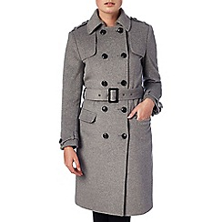 Phase Eight - Grey 'Jillian' belted trench coat