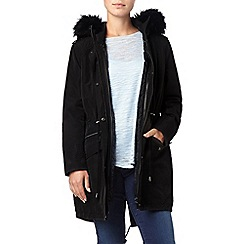 Phase Eight - Black giana glam parka coat