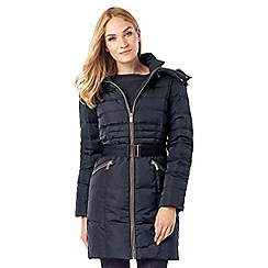 Phase Eight - Faux Fur Trim Paula Puffer