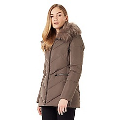 Phase Eight - Calandra chevron puffer coat