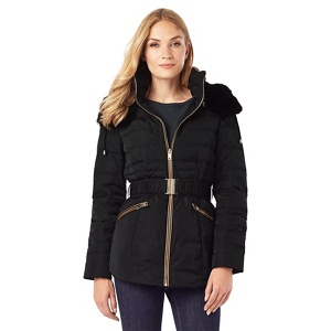 Phase Eight Faux Fur Trim Paula Puffer Jacket