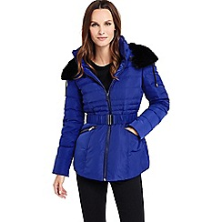 Phase Eight - Faux Fur Trim Paula Puffer Jacket