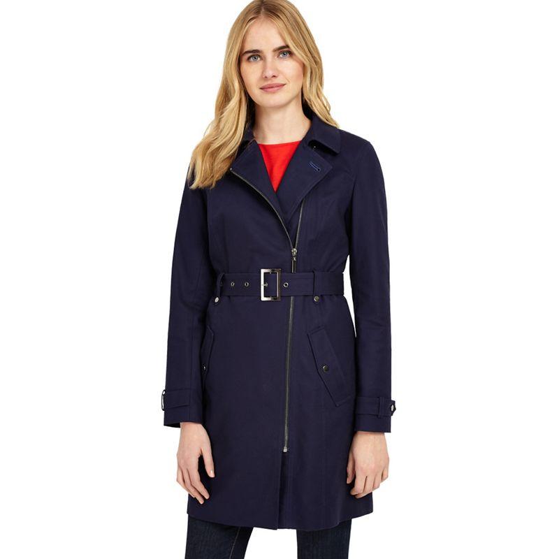 Phase Eight Navy tabatha zip trench coat