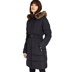 Phase Eight - Navy Kalyn long puffer coat