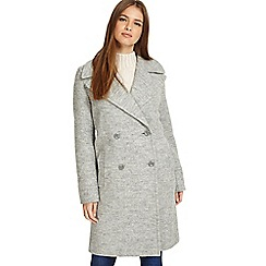 Phase Eight - Grey marl 'Julissa' double-breasted coat