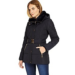 Phase Eight - Navy Deasia short diamond puffer coat