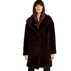 Phase Eight - Dark port 'Beckie' fur coat