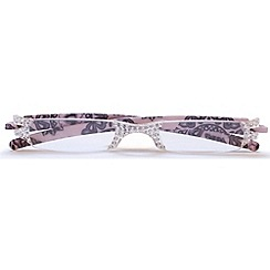 Sight Station - Opera pink lace fashion reading glasses