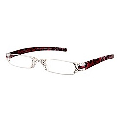 Sight Station - Opera red leopard fashion reading glasses