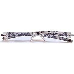 Sight Station - Opera white lace fashion reading glasses