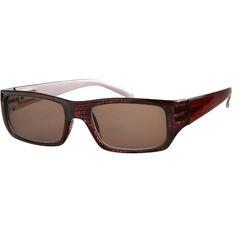 Sight Station - Brompton red reading sunglasses - two in one sunglasses and reading glasses