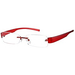 Sight Station - Delta red fashion reading glasses