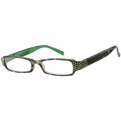 Sight Station - Aster green fashion reading glasses