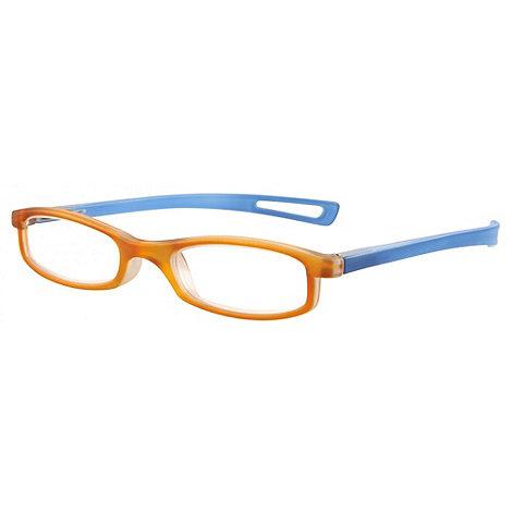 Sight Station - Darwin orange fashion reading glasses