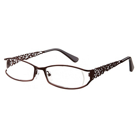 Sight Station - Filigree burgundy fashion reading glasses