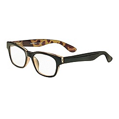 Sight Station - Conran black fashion reading glasses