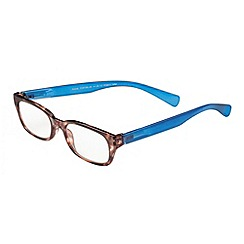 Sight Station - Riane tortoise and blue fashion reading glasses