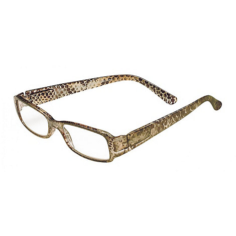 Sight Station - Libby black and gold snake fashion reading glasses