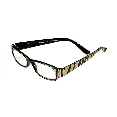Sight Station - Allie black and gold fashion reading glasses