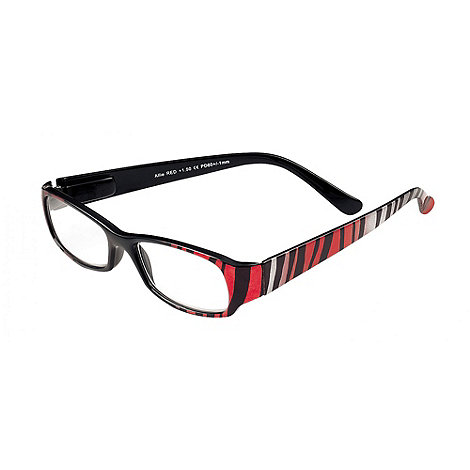 Sight Station - Allie black and red fashion reading glasses
