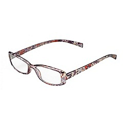 Sight Station - Hannah grey multi colour fashion reading glasses