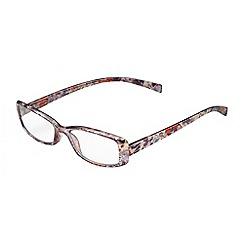 Sight Station - Hannah grey multi colour fashion reading glasses
