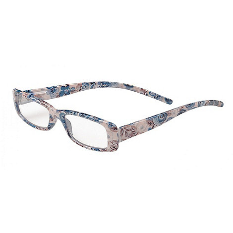 Sight Station - Abigail white and blue fashion reading glasses